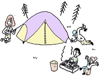 テント持ち込みサイト