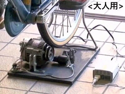13.自転車発電機(大人用・子供用)